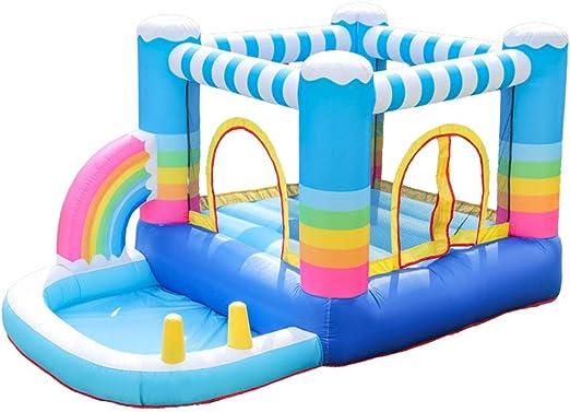 Rainbow Bouncy Castle Tobogán para Niños Parque para Niños Piscina ...