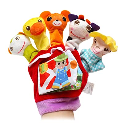 Hand Puppet Creative Cartoon Animals Finger Puppet Finger Doll Toy for Kids: Toys & Games