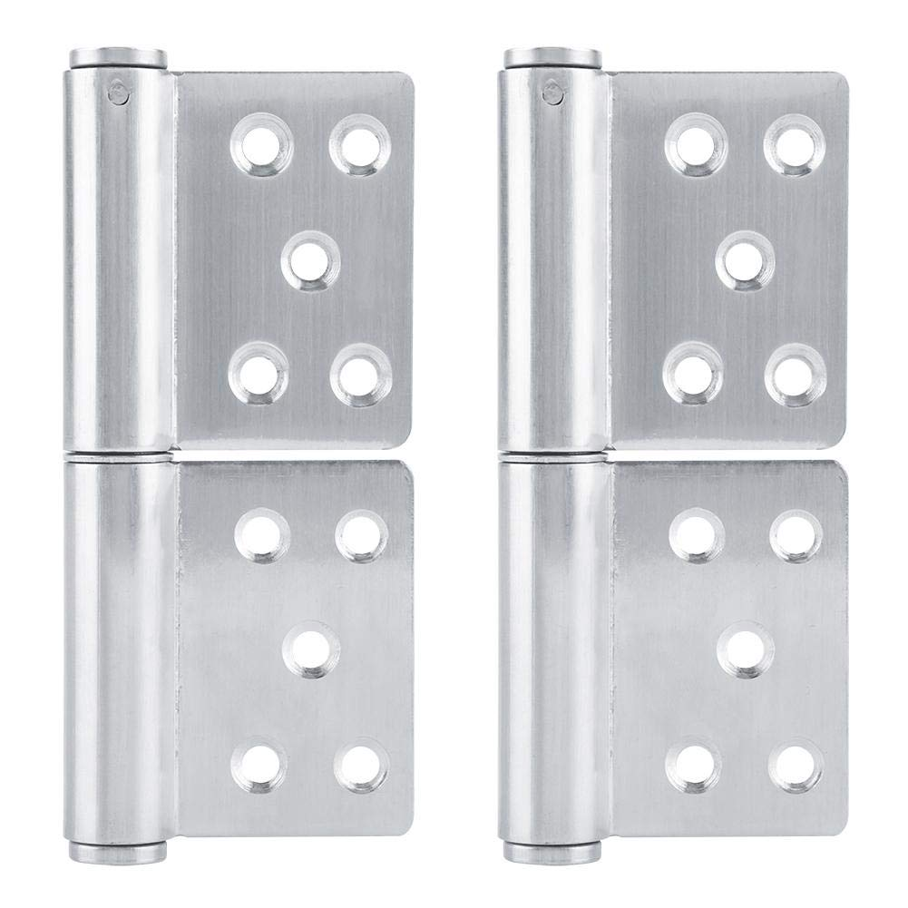 3.0mm Thickness 2Pcs Door Hinges Stainless Steel Double-Sided Hole-Type Detachable Hinge Window Cupboard Flag Hinges