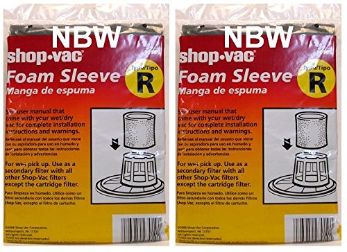 - (Ship from USA) Shop Vac Foam Sleeve Type R (Pack of 2) #90585