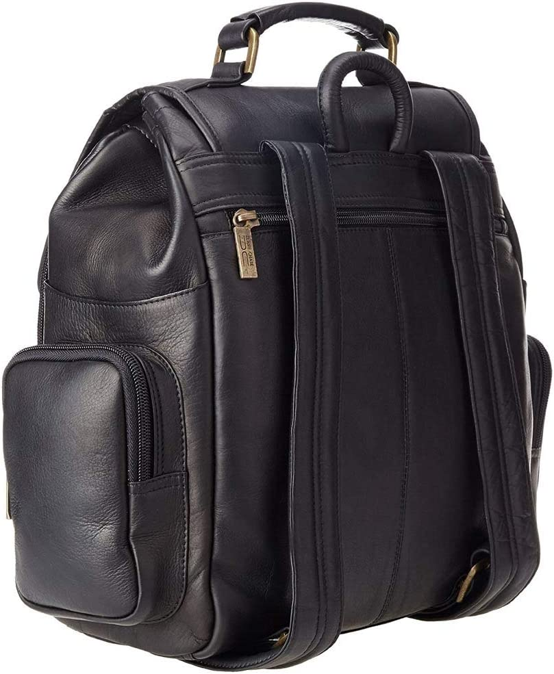 Claire Chase Laptop Leather Sierra Bak-Pak in Black