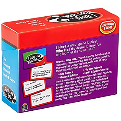 Teacher Created Resources I Have Who Has Science Card (7856): Office Products