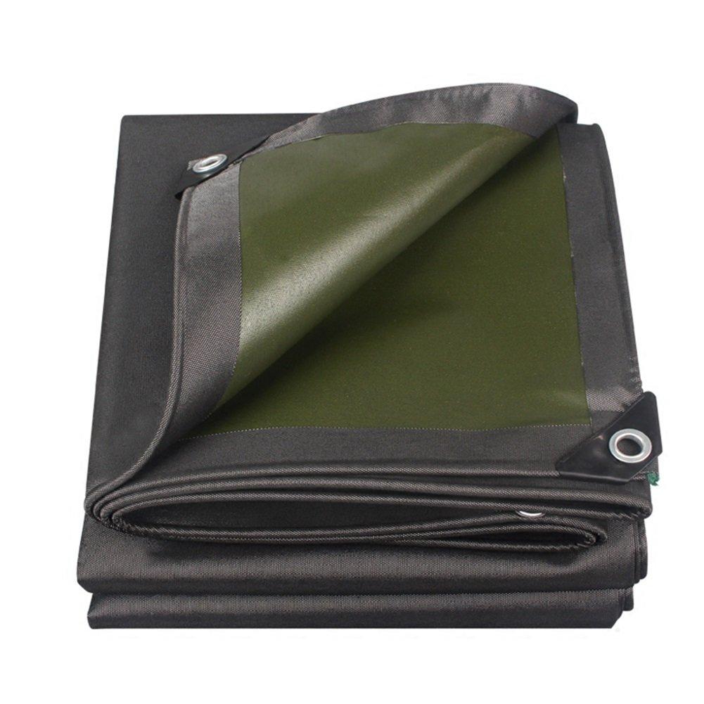 LIANGJUN オーニング サンシェード 片面 防水 コーティング UVプロテクト キャンバス 増粘 タープ 耐候性 耐食性 屋外 厚さ0.7mm、 550g/m² (色 : Black+green, サイズ さいず : 2X4m) B07D2GL11V 2X4m|Black+green