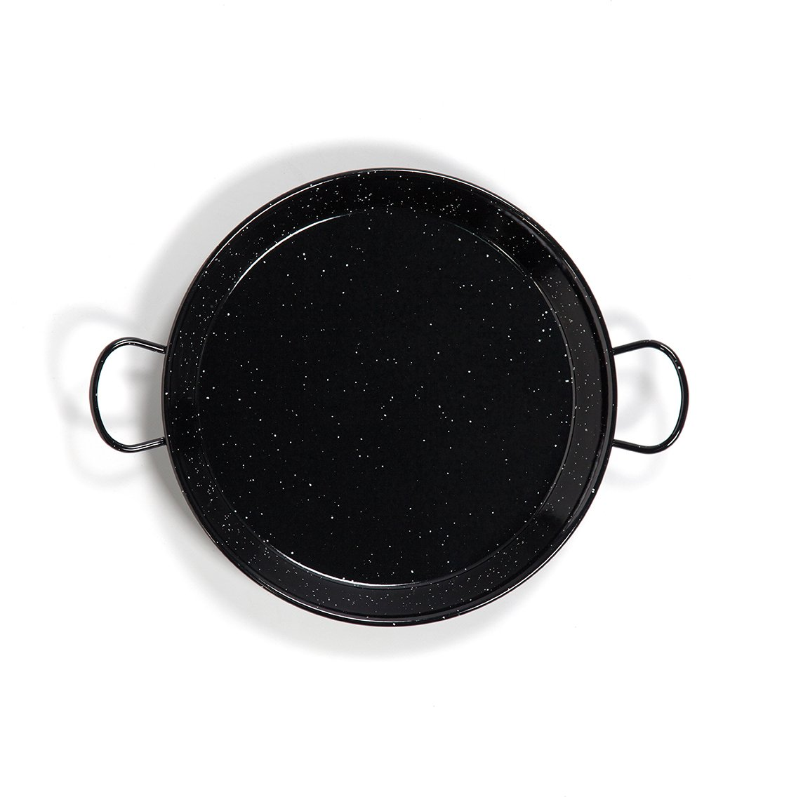 Enamelled Steel Valencian paella pan. 17Inch / 42cm / 10 Servings