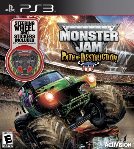 Monster Jam: Path of Destruction with Custom Wheel - PlayStation by Activision