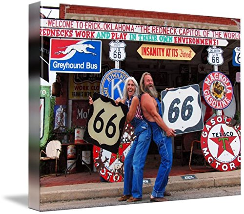 Wall Art Print entitled Route 66: Sand Hills Curiosity Shop In Erik, Oklah by Warren Keating