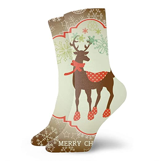 acf58bff09 Compression Socks For Women Men Christmas Card Nursing, Travel & Flight  Socks