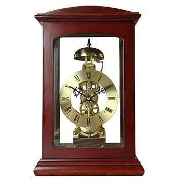 Relojes de mesa para la Sala de Estar Decoración Relojes de Escritorio Antiguos Operado con batería Retro Dormitorio Decoración del hogar Sin tictac ...