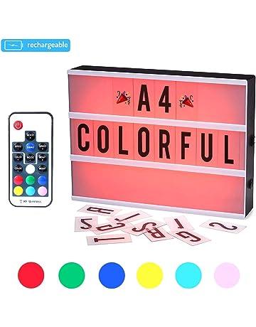 CrazyFire Caja de Luz, Cambio de Color Lightbox A4,Batería Recargable Cinematic Led Box