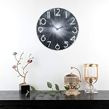 Amazon.com: Relojes de pared – 11.8 in Iron Art Countryside ...