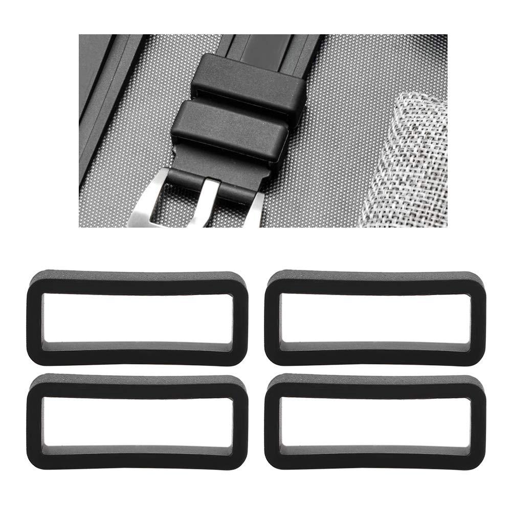 Brrnoo 4 Cinturini di Ricambio in Silicone per Orologio 18 mm