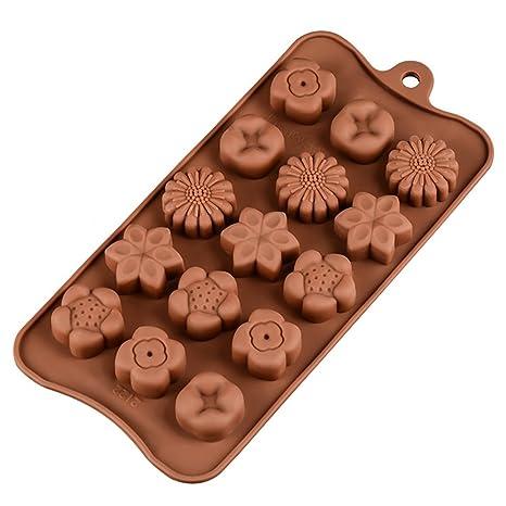 Byrxkj Moldes de Silicona para Horno de Chocolate de la Serie Christmas