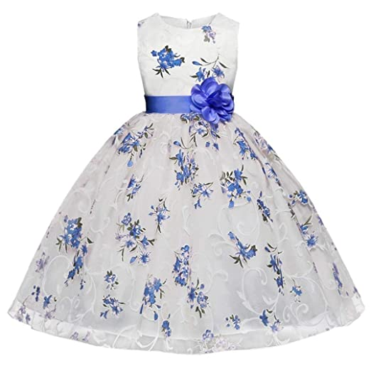 5a2db884048ce Amazon.com: Moonker Girls Princess Dress for 3-7 Years Old, Kids ...