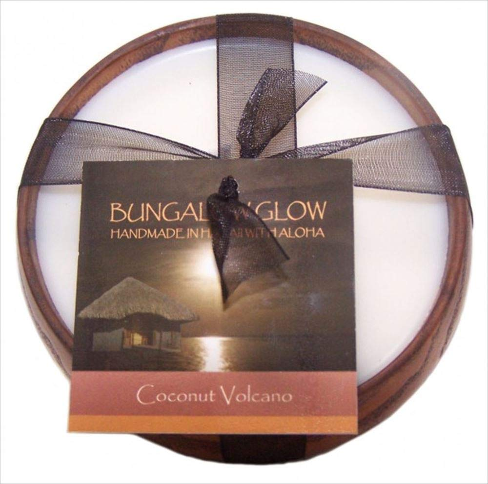 Bungalow Glow, Candle Coconut Volcano Wood 6 Ounce