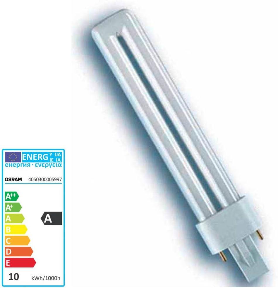 10x Osram DULUX S Kompaktleuchtstofflampe G23 11W//830 G23-237mm - Warmton
