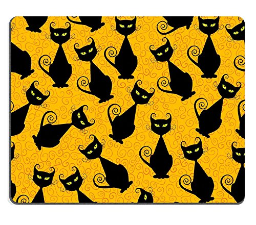 Qzone Mousepads Black cat seamless pattern for halloween IMAGE 10942040 Customized Art Desktop Laptop Gaming mouse Pad -