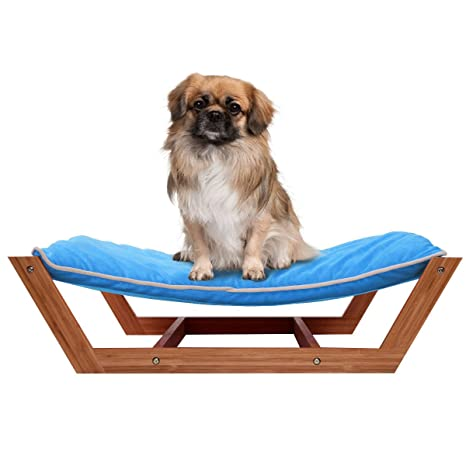 Giantex Rectángulo alfombrilla de dormir cama hamaca de mascota Perro Pan, salón de bambú cojín