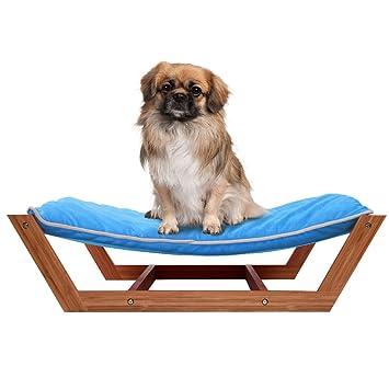 Giantex Rectángulo alfombrilla de dormir cama hamaca de mascota Perro Pan, salón de bambú cojín: Amazon.es: Productos para mascotas