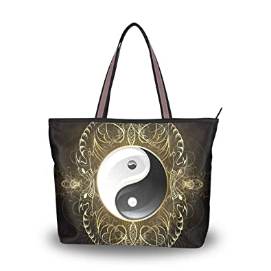 a1092446af05 Amazon.com: MAPOLO Symbol Yin Yang Fashion Handbags Tote Bag ...