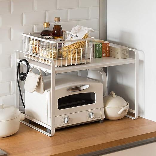 Estante para horno de microondas y cocina, 2 estantes de ...