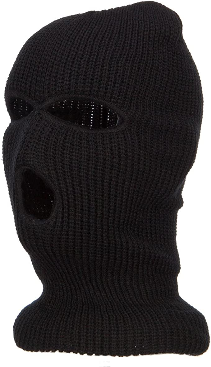 Ski Mask with Three Holes Red W11S14D