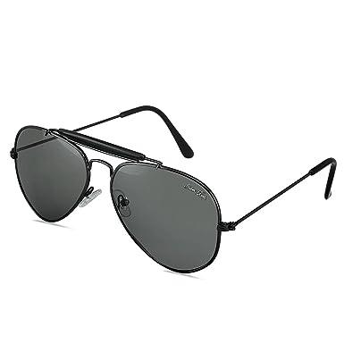 fd23c9069297 Silver Kartz Classic Double-Bar Aviator Sunglasses for Men and Women ...