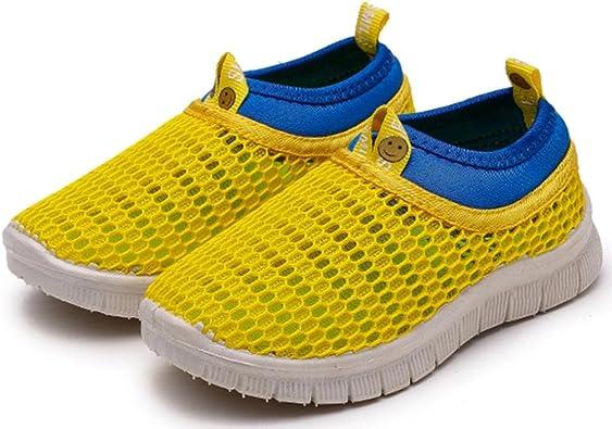 ZARLLE Zapatillas NiñO Color Caramelo Zapatillas para BebéS Zapatos De Bebé Malla Zapatillas De Deporte Transpirables Antideslizante Zapatos Bebe NiñO Zapatos De Running Deportes (35, Amarillo): Amazon.es: Zapatos y complementos