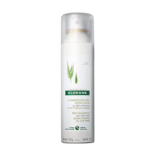 Amazon.com: Klorane Dry Shampoo with Oat Milk, Ultra-Gentle, All Hair Types, No White Residue, Paraben & Sulfate-Free, 3.2 oz.: Premium Beauty
