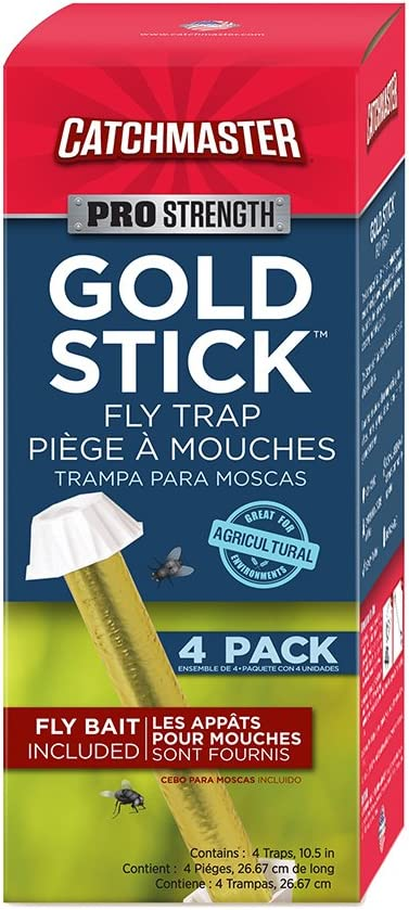 Catchmaster 912R4 Mini Gold Stick Fly & Wasp Catcher 4 Pack