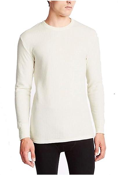 Thermals Mens 100/% Merino Wool Short Sleeve Top Beige Sz S M L XL XXL