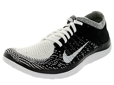 brand new 9d761 9e446 Amazon.com | Nike Women's Free 4.0 Flyknit White/White/Black ...
