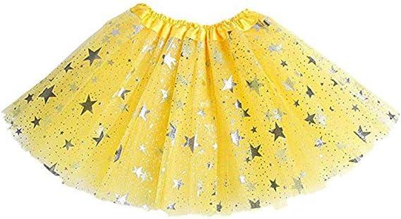 QinMMROPA 2-8 años de Falda de Lentejuelas Estrella para niñas ...