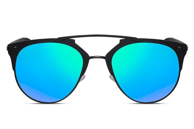 Cheapass Occhiali da Sole Rotondi Neri Unisex cXNrabLKc