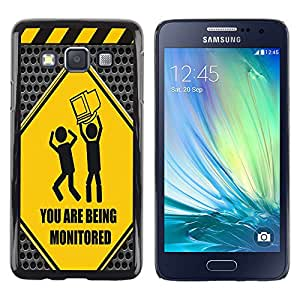 - Freaky Funny Pattern - - Hard Plastic Protective Aluminum Back Case Skin Cover FOR Samsung Galaxy A3 a3000 Queen Pattern