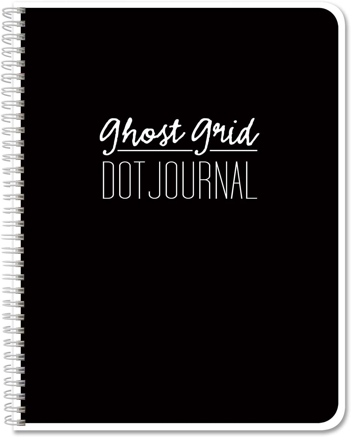 """BookFactory Ghost Grid Dot Journal/Large Bullet Notebook 120 Pages 8.5"""" x 11"""" Wire-O (JOU-120-7CW-A(DotJournalPF))"""