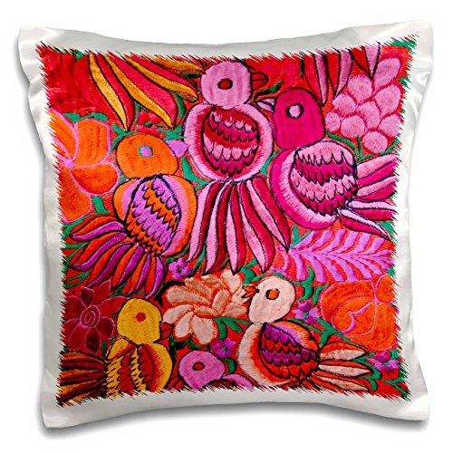 3dRose Livingston Embroidery Birds Pillow pc 187724 1