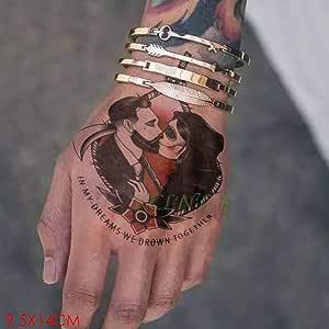 Handaxian 3pcs Carta Dedo Tatuaje Etiqueta engomada del Tatuaje ...