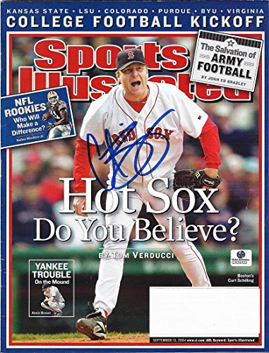 (AUTOGRAPHED Curt Schilling 2014 SPORTS ILLUSTRATED (Hot Sox: Do You Believe?) Signed Collectible 9X11 Inch MLB Baseball SI Magazine with COA)
