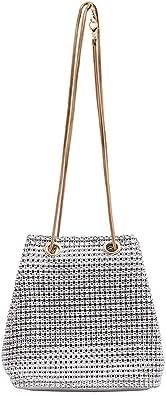 Gabrine Womens Hologram Holographic Evening Bag Shoulder Bag Crossbody Bag Handbag Clutch Purse