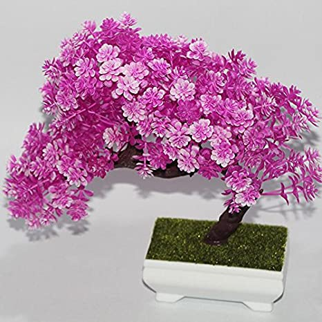 Amazon.com : New Fashion Plastic Artificial Tree Plants Ceramics ...