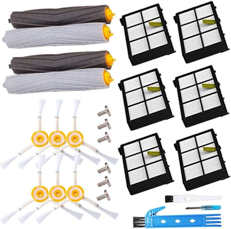 BSDY YQWRFEWYT Replacement Kit Accesorios para IRobot Roomba 800 805 860 861 870 871 880 885 890 900 960 980 Recambio de Filter