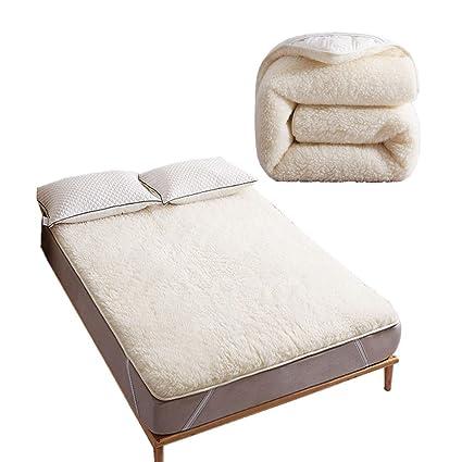 Amazon Com Wasyoh White Australian Pure Wool Futon Mattress Thicken