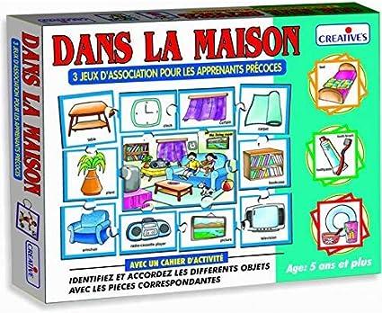 StonKraft en casa (francés) | Aprender francés | Juegos de Aprendizaje | Juegos educativos y Juguetes | Juegos a Juego para niños y niños pequeños: Amazon.es: Juguetes y juegos