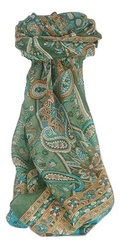 Bufanda Tradicional de Seda Largo Chawl Sage de Pashmina & Silk