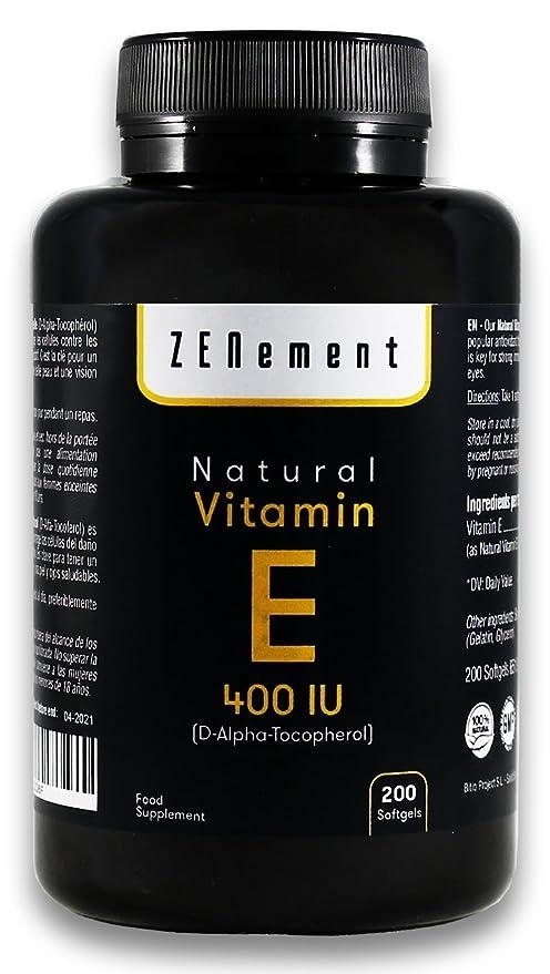 Vitamine E Naturelle 400 UI (D-Alpha-Tocophérol)   200 capsules ... d9c80e35e26d