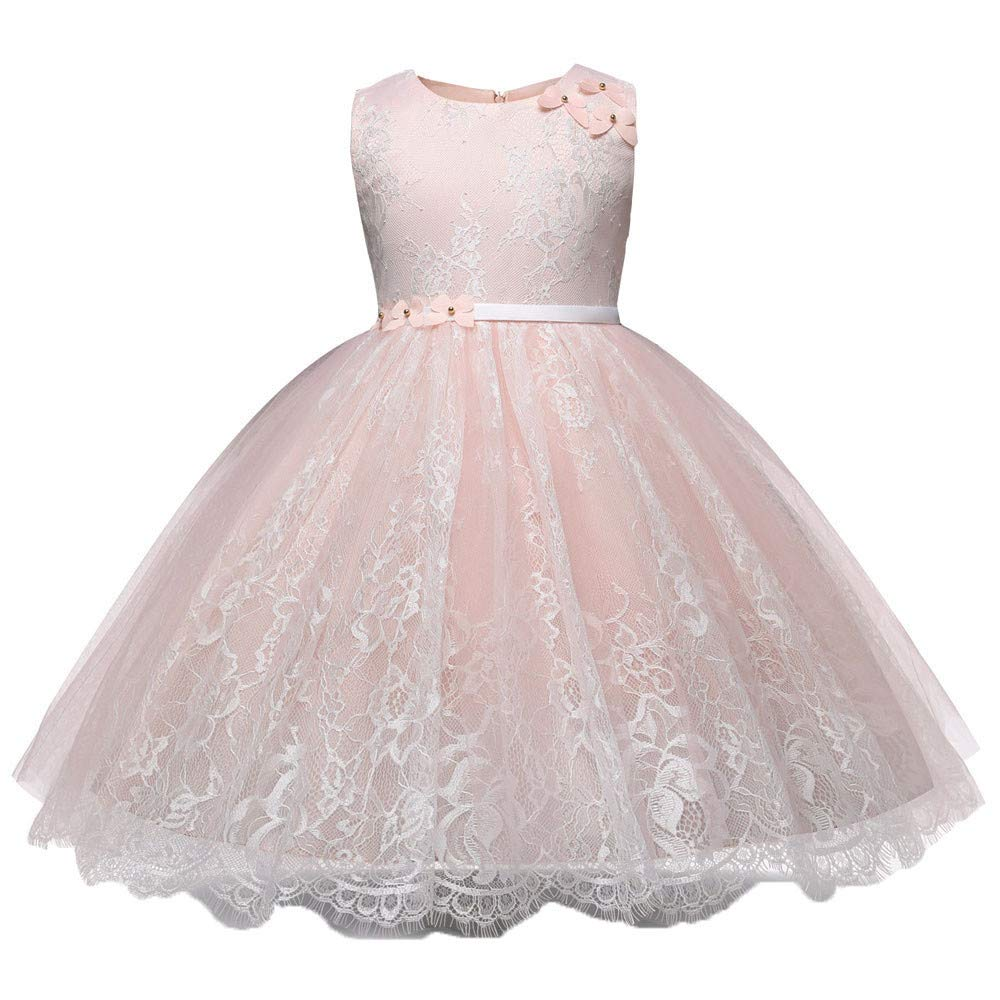 d1ae47245f8b Amazon.com: Little Big Girls Dresses Tutu Tulle Sleeveless Bow Tie Princess  Pageant Prom Ball Gown 2-6 Years: Clothing