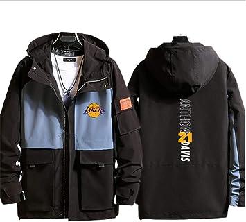 メンズ ジャケットジャケット メンズスポーツウェアトロサンゼルスレイカーズユニフォームジェームスNo.21メンズ&ウィメンズ長袖フード付きカジュアルウェア(シャツなし)