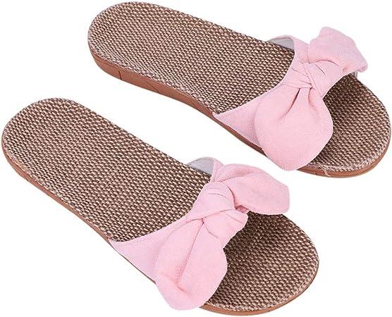 Non-Slip Slippers Linen Shoes