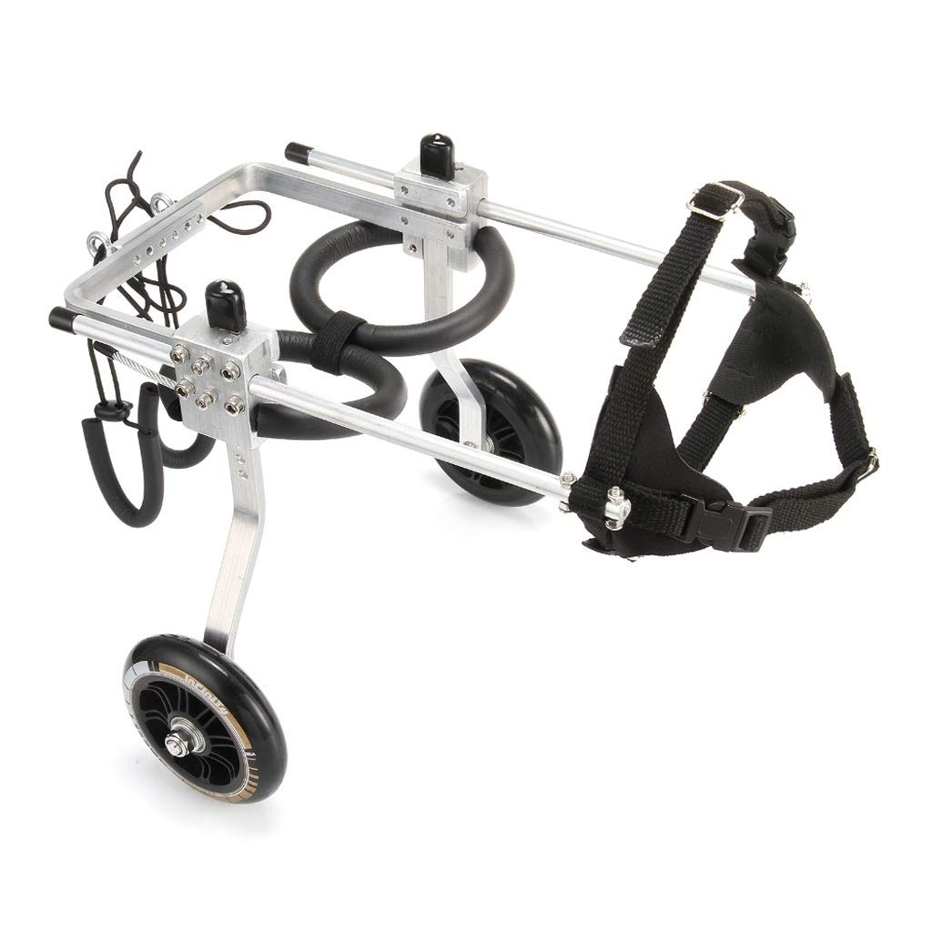 M Carts Pet Cat Dog Wheelchair Back Legs Paralyzed Adjustable Pet Scooter Disabled Hind Legs Auxiliary 2 Wheels (Size   M)