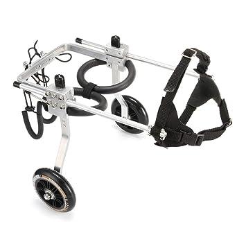 Mysida wheelchairs Carros Mascotas/Gatos/Perros Silla de Ruedas Atrás Piernas Paralizado Ajustable Mascota Scooter Deshabilitado Patas traseras Auxiliares 2 ...